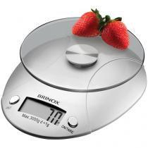 Balança de Cozinha Digital Brinox 2923/100 1g até 3 kg de Vidro