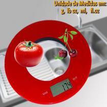 Balança de cozinha redonda 5 kgs VERMELHO CBRN01569 - Commerce brasil