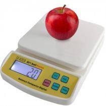 Balança Digital Compacta Branca até 10Kg  SF400A SKU: 117418 - Globalhome