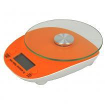 Balança eletrônica digital de cozinha 5kg cbr04270 laranja - Commerce brasil
