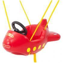 Balanço Infantil Playground Avião Vermelho - Xalingo