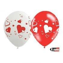 Balão com Corações  25 unidades n10 28cm Balloontech -