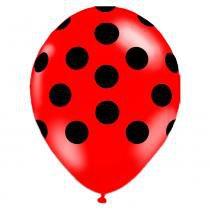 Balão de Látex Corpo de Joaninha 10 1D com 25 Unidades Balloontech -