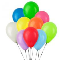 Balão de Látex Sortido Liso 50 unidades - Festabox