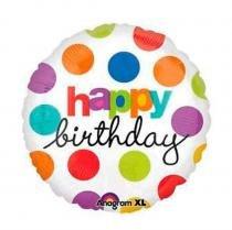 Balão Metalizado Birthday n18 Anagram -