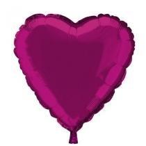 Balão Metalizado Coração Rosa n18 - Festabox