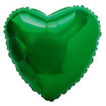 Balão Metalizado Coração Verde - Flexmetal - Festabox