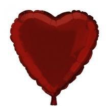 Balão Metalizado Coração Vermelho n18 - Festabox