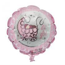 Balão Metalizado Its Girl n9 - Festabox