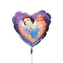 Balão Metalizado Mini Coração Branca de Neve - Festabox