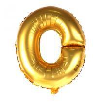 Balão Metalizado Mini Shape Letra O Dourado 70cm - Aluá Festas