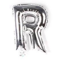 Balão Metalizado Minishape Prata 70cm Letra R - Aluá Festas