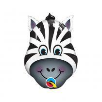 Balão Qualatex Metalizado 32 Polegadas-81cm Zebra -