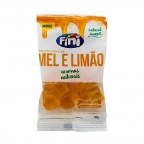 Balas de Gelatina Fini Natural Sweets Mel e Limão 18g -