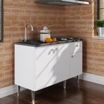 Balcão com Tampo para Cooktop e Forno - Art In Móveis 3 Portas 1 Gaveta CZ 6200