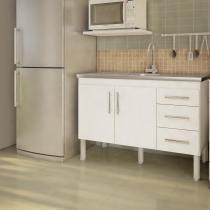 Balcão de cozinha Flex Para Pia 120 cm -  Branco - Mgm