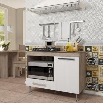 Balcão de Cozinha para Cooktop 1 Gaveta Indekes Nogal/Salina -