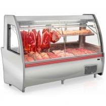 Balcão Expositor Frigorífico Açougue GCPC-210D com Depósito Refrigerado Pop Duplex Gelopar - Inox - 110V - Gelopar