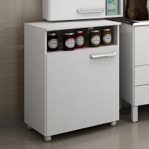 Balcão móvel de cozinha com nicho Decari 31110 - Branco Textura - Palmeira