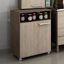 Balcão móvel de cozinha com nicho Decari 31110 - Castanho Carvalho - Palmeira