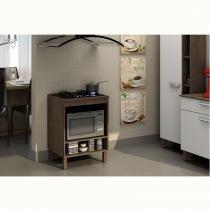 Balcão para cooktop 4 bocas e forno Decari 31105 - Castanho - Palmeira