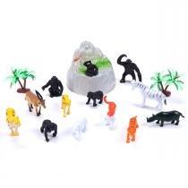 Balde com 13 Animais da Fazenda Coqueiro e Pedra Yoyo Kids - Yoyo Kids