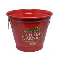 Balde de Gelo Grande Modelo Cerveja Vermelho SA 2 Litros - Decore fácil
