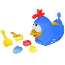 Balde de praia - galinha pintadinha - rosita - Bbra