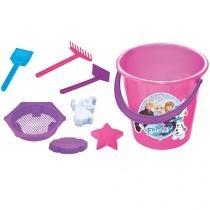 Baldinho de Praia Frozen Disney 8 Peças - Lider Brinquedos