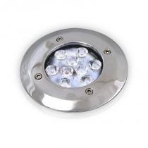 BALIZADOR DECK CORPO CROMADO POWER LED 10W 45 BIVOLT - LED Branco Frio - Iluctron