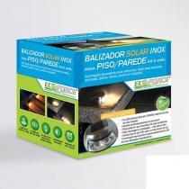 Balizador Solar Inox Ecoforce Para Piso e Parede com 2 Unidades - Ecoforce