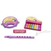 Banda Infantil Play Bee Bandinha da Princesa - Flauta Pandeiro Xilofone Gaita 4 Peças BeeMe Toys