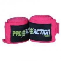 Bandagem Elástica com Poliéster Proaction Pink - Par 3Mts - ProAction