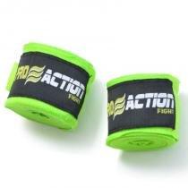 Bandagem Elástica com Poliéster Proaction Verde - Par 3Mts - ProAction