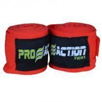 Bandagem Elástica com Poliéster Proaction Vermelha - Par 3Mts - ProAction