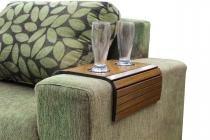 Bandeja esteira braço sofá porta copos flexível marrom - My shop brasil