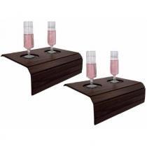 Bandeja Porta Copo para Sofá Kit com 2 Tradicionais Tabaco - Dikaza móveis e decorações