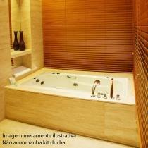 Banheira de Hidromassagem Ouro Fino Tulipacril Premium 1,50m x 75cm x 40cm 04 Jatos - Ouro Fino