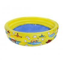 Banheira inflável infantil 300 litros amarela - Nautika