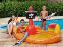 Banheira Inflável Navio Pirata Mor - 9 Peças