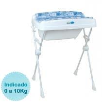 Banheira para Bebê Burigotto Millenia - Peixinhos Azul - Neutro - Neutro - Burigotto