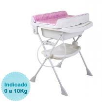 Banheira para Bebê Burigotto Splash - Circles Rosa -