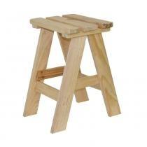 Banqueta em madeira 50x36 cm - BANQ-50Q - MultiMarcas