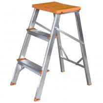 Banqueta Escada Alumínio - 3 Degraus - Tools 003 - Evolux