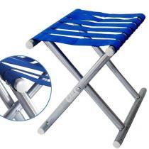 Banquinho Cadeira Dobravel Aluminio Banco Pesca Camping (937-1-40) - Braslu