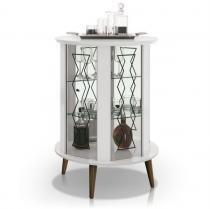 Bar Giratório Bourbon Branco - Edn móveis