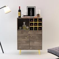 Bar Unique Roble Imperial/Amarelo - Incolar móveis