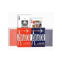 Baralho AVIATOR Standard Vermelho e Azul - (PAR) - Aviator