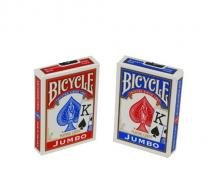 Baralho BICYCLE Jumbo Vermelho e Azul (COMBO 6 PARES) - Bicycle