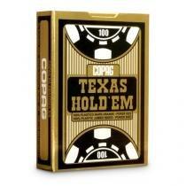 Baralho Copag Poker Texas HoldEm Preto Plástico Unitário - COPAG